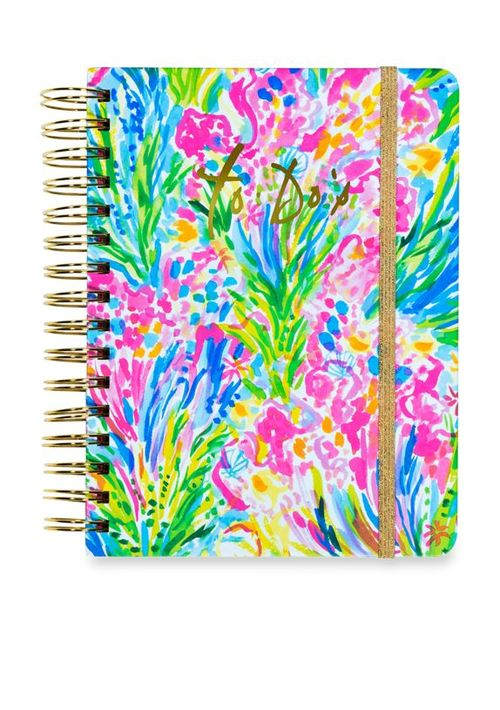 New Lilly Pulitzer Seas The Day Loose Paper Notes in Acrylic Holder