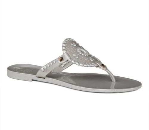 7783ee0cd2c Jack Rogers Silver Georgica Jellies - Ginny Marie s