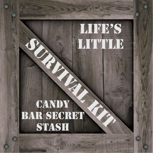 Candy Bar Secret Stash Survival Kit