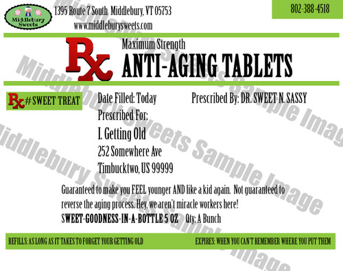 Funny Bone Prescriptions - Anti-Aging Tablets