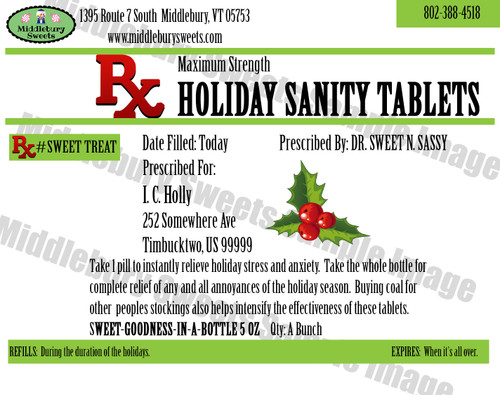 Funny Bone Prescriptions - Holiday Sanity Tablets