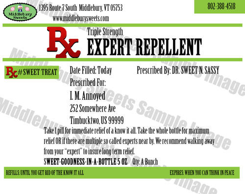 Funny Bone Prescriptions - Expert Repellent
