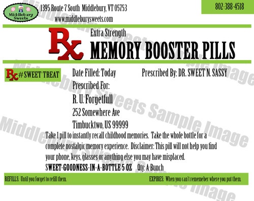 Funny Bone Prescriptions - Memory Booster Pills