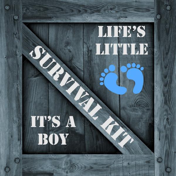 It's A Boy Survival Kit