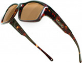 Jonathan Paul® Fitovers Eyewear X-Large Yamba in Dark-Tortoise & Amber YM003A