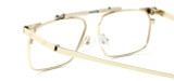 Calabria FAST-FOLD Metal Folding Reading Glasses w/ Case in Gold