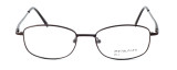 Calabria MetalFlex U Pewter Designer Eyeglasses LL in Brown :: Rx Bi-Focal