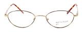 Calabria MetalFlex U Pewter Designer Eyeglasses O in Gold in Brown :: Rx Bi-Focal