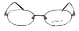 Calabria MetalFlex U Pewter Designer Eyeglasses P in Antique Brown :: Rx Bi-Focal