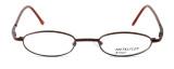 Calabria MetalFlex U Pewter Designer Reading Glasses 1003 in Brown