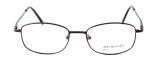 Calabria MetalFlex U Pewter Designer Reading Glasses LL in Brown