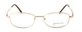 Calabria MetalFlex U Pewter Designer Reading Glasses LL in Gold