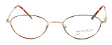 Calabria MetalFlex U Pewter Designer Reading Glasses O in Gold in Brown