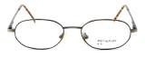 Calabria MetalFlex U Pewter Designer Reading Glasses P in Gold & Amber