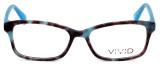 Calabria Viv 854 Designer Eyeglasses in Demi-Blue :: Rx Bi-Focal