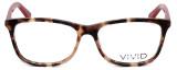 Calabria Viv 848 Designer Eyeglasses in Demi-Red :: Rx Bi-Focal