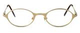 Regency International Designer Eyeglasses Mill 001 in Matte Gold 46mm :: Rx Bi-Focal