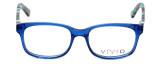 Calabria Viv Designer Eyeglasses 144 in Blue :: Rx Bi-Focal