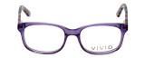 Calabria Viv Designer Eyeglasses 144 in Purple :: Rx Bi-Focal