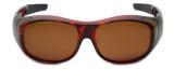 Calabria 7659 Polarized FitOver Sunglasses Medium Size