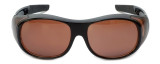 Calabria 7659 Drivers FitOver Sunglasses with Copper Lens Large Size