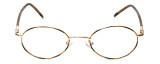 FlexPlus Collection Designer Eyeglasses Model 64 in Gold-Demi-Amber 46mm :: Rx Bi-Focal