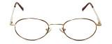 MetalFlex Designer Eyeglasses Model M in Gold-Demi-Amber 46mm :: Rx Bi-Focal