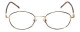 FlexPlus Collection Designer Reading Glasses Model  82 in Gold-Demi-Brown 50mm