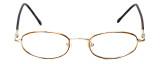 FlexPlus Collection Designer Reading Glasses Model 86 in Gold-Demi-Amber 48mm