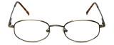MetalFlex Designer Reading Glasses Model N in Ant-Gold 49mm