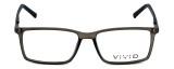 Calabria Viv Designer Eyeglasses 239 in Grey-Black 53mm :: Rx Bi-Focal