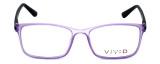 Calabria Viv Designer Eyeglasses 241 in Purple-Black 53mm :: Rx Bi-Focal