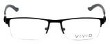 Calabria Viv Designer Eyeglasses 390 in Black 54mm :: Rx Bi-Focal