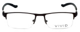 Calabria Viv Designer Eyeglasses 390 in Gunmetal 54mm :: Rx Bi-Focal