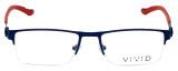 Calabria Viv Designer Eyeglasses 390 in Navy 54mm :: Rx Bi-Focal