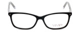 Calabria Viv Designer Eyeglasses 869 in Black-Clear 51mm :: Rx Bi-Focal