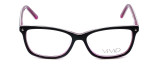 Calabria Viv Designer Eyeglasses 869 in Black-Purple 51mm :: Rx Bi-Focal