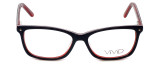 Calabria Viv Designer Eyeglasses 869 in Black-Red 51mm :: Rx Bi-Focal