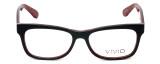 Calabria Viv Designer Eyeglasses 870 in Black-Red 55mm :: Rx Bi-Focal