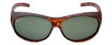 Montana Designer Fitover Sunglasses F01B in Matte Tortoise & Polarized G15 Green Lens
