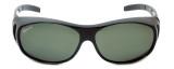 Montana Designer Fitover Sunglasses F01D in Gloss Black & Polarized G15 Green Lens