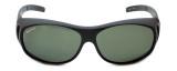 Montana Designer Fitover Sunglasses F01F in Matte Black & Polarized G15 Green Lens