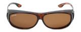Montana Designer Fitover Sunglasses F02A in Gloss Tortoise & Polarized Brown Lens