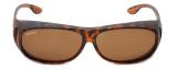 Montana Designer Fitover Sunglasses F02C in Matte Tortoise & Polarized Brown Lens