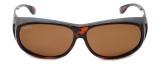 Montana Designer Fitover Sunglasses F03A in Gloss Tortoise & Polarized Brown Lens