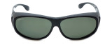 Montana Designer Fitover Sunglasses F03D in Gloss Black & Polarized G15 Green Lens
