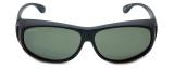 Montana Designer Fitover Sunglasses F03F in Matte Black & Polarized G15 Green Lens