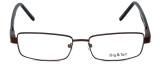 Big and Tall Designer Eyeglasses Big-And-Tall-5-Brown in Brown 58mm :: Rx Bi-Focal