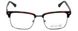 Calabria Viv Designer Eyeglasses Vivid-257 in Demi Red 52mm :: Rx Bi-Focal