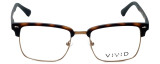 Calabria Viv Designer Eyeglasses Vivid-257 in Tortoise 52mm :: Rx Bi-Focal